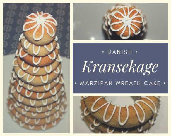 Marzipan wreath cake - ring cake - Danish kransekage - a recipe for a classic Danish cake. Find recipes and inspiration @ danishthings.com
