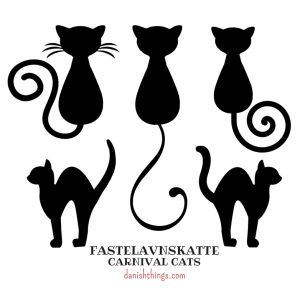 Carnival cats for decoration and as a template - find free decorations, templates, masks, recipes and inspiration on danishthings.com