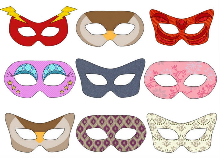 Fastelavnsmasker Find skabeloner og masker til print danish things @ danishthings.com