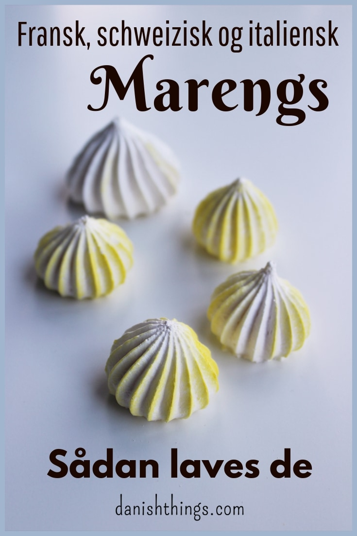 Lækre marengs. Fransk marengs, schweizisk marengs og italiensk marengs - find opskrifter og inspiration til årets gang på danishthings.com (Recipe in Danish)