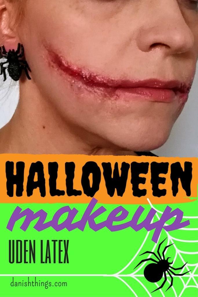 Halloweenmakeup - makeup uden latex - find instruktioner, opskrifter, gratis print og inspiration til årets gang på danishthings.com