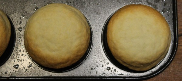 "Place them upside down on a greased muffin form, to form shells - or ""blind bake"" as normal"