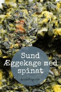 Sund æggekage med spinat - find opskrifter og inspiration på danishthings.com © Christel Danish Things