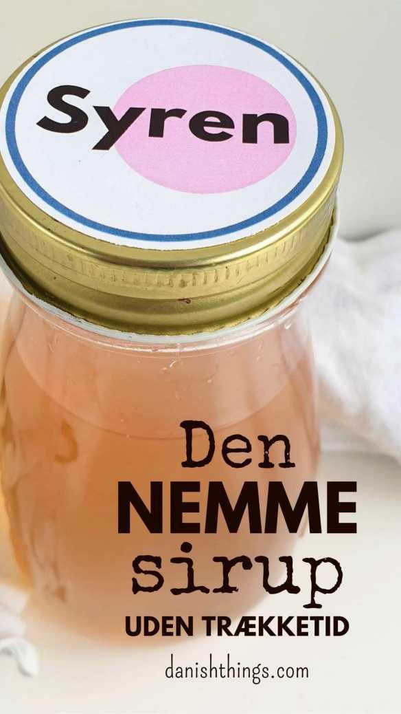 Syrensirup - sådan laver du den nemt, hurtigt og uden trækketid. Drik din sirup som sodavand, saftevand eller brug den i drinks. Spis syrensirup på pandekager, yoghurt eller brug den i marmelade, slik og desserter. Find opskrifter, gratis print og inspiration til årets gang på danishthings.com #DanishThings #syrener #syren #syrensirup #syrensaft #saft #sirup #nem #hurtig #forår #den-nemme-sirup