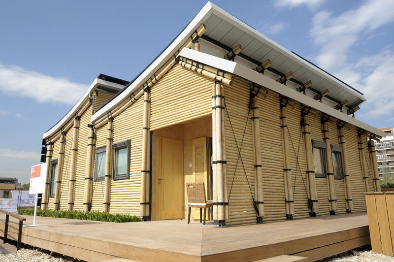 Model Rumah Bambu Modern Minimalis Danislexaw