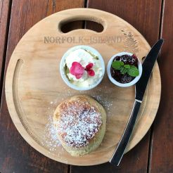 Scones with jam and cream on Norfolk Island! 😍_._._