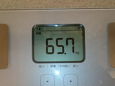 ダイエット前の実測体重
