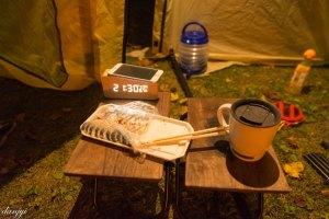 日高沙流川キャンプ場で一人まったりと酒をたしなむ