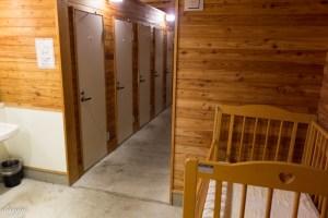 函館白石公園キャンプ場の炊事棟内部の写真