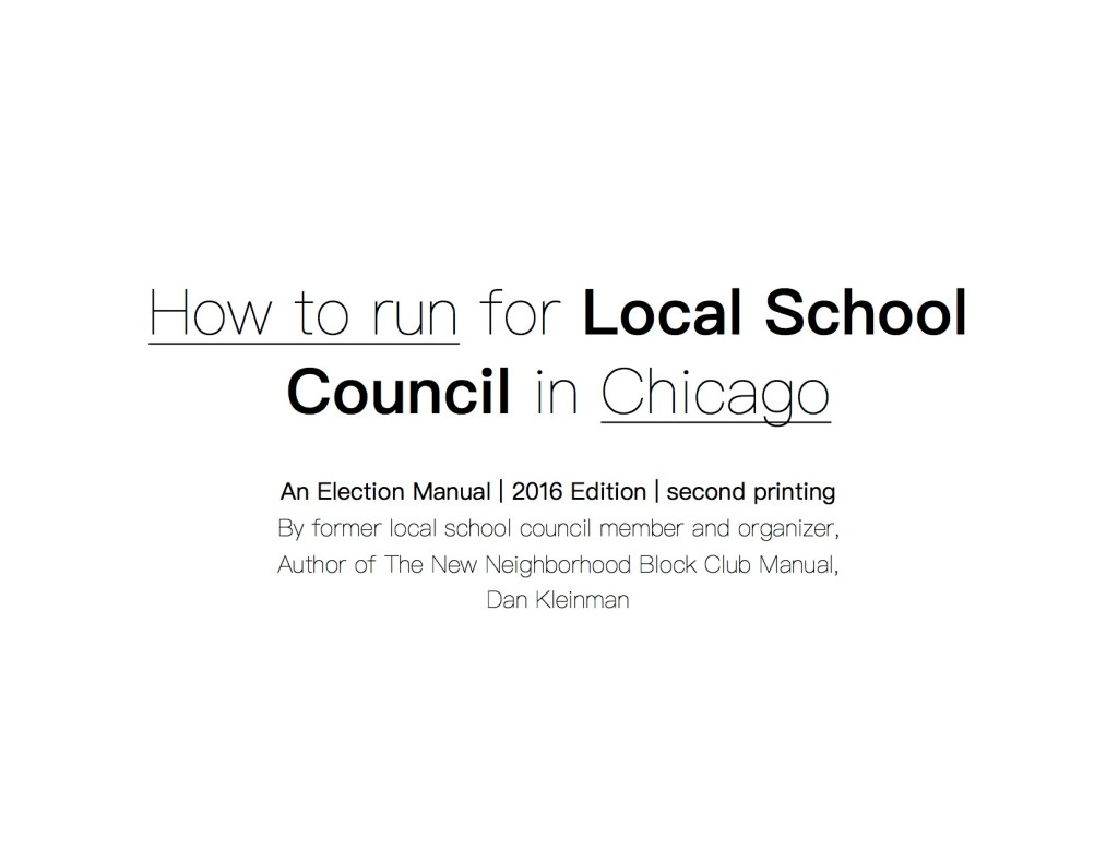 How to Run for Local School Council LSC 2nd