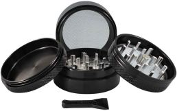 Sharpstone 2.2″ 4 Piece Glass Top Grinder – Black