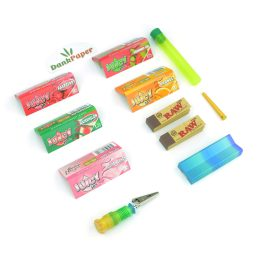 Fruity Bundle – Rolling Tray, Paper Case, Cigarette Holder Clip, Packing Tool, Doob Tube, Juicy Jay's Rolling Papers, Tips