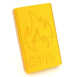 Cigarette Hard Case with Secure Slide Lid – #Lit Flame Design