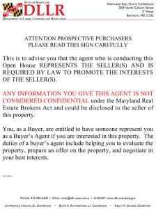 notice to home buyers and sellers