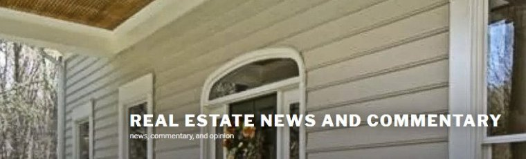 real estate news and commentary