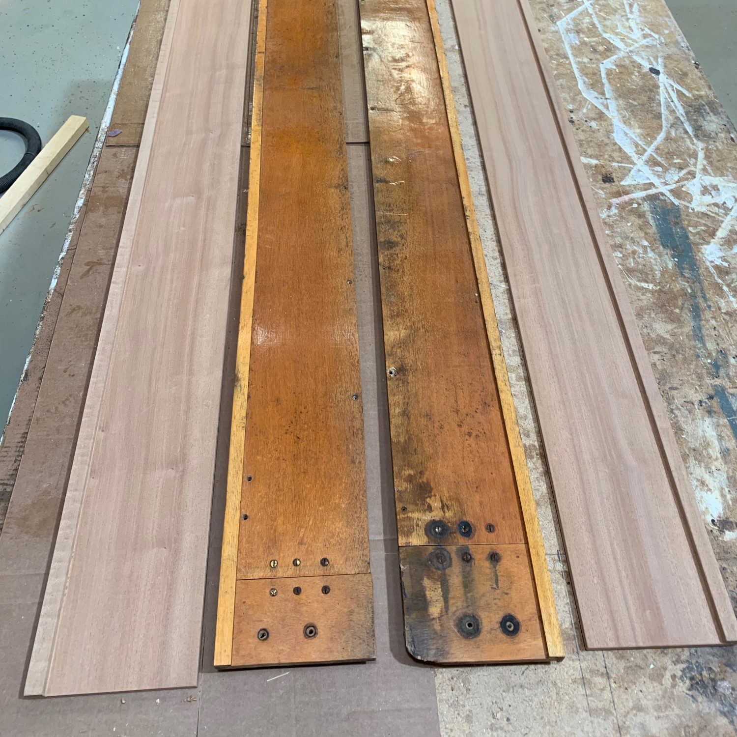 Replacement side boards copied from originals