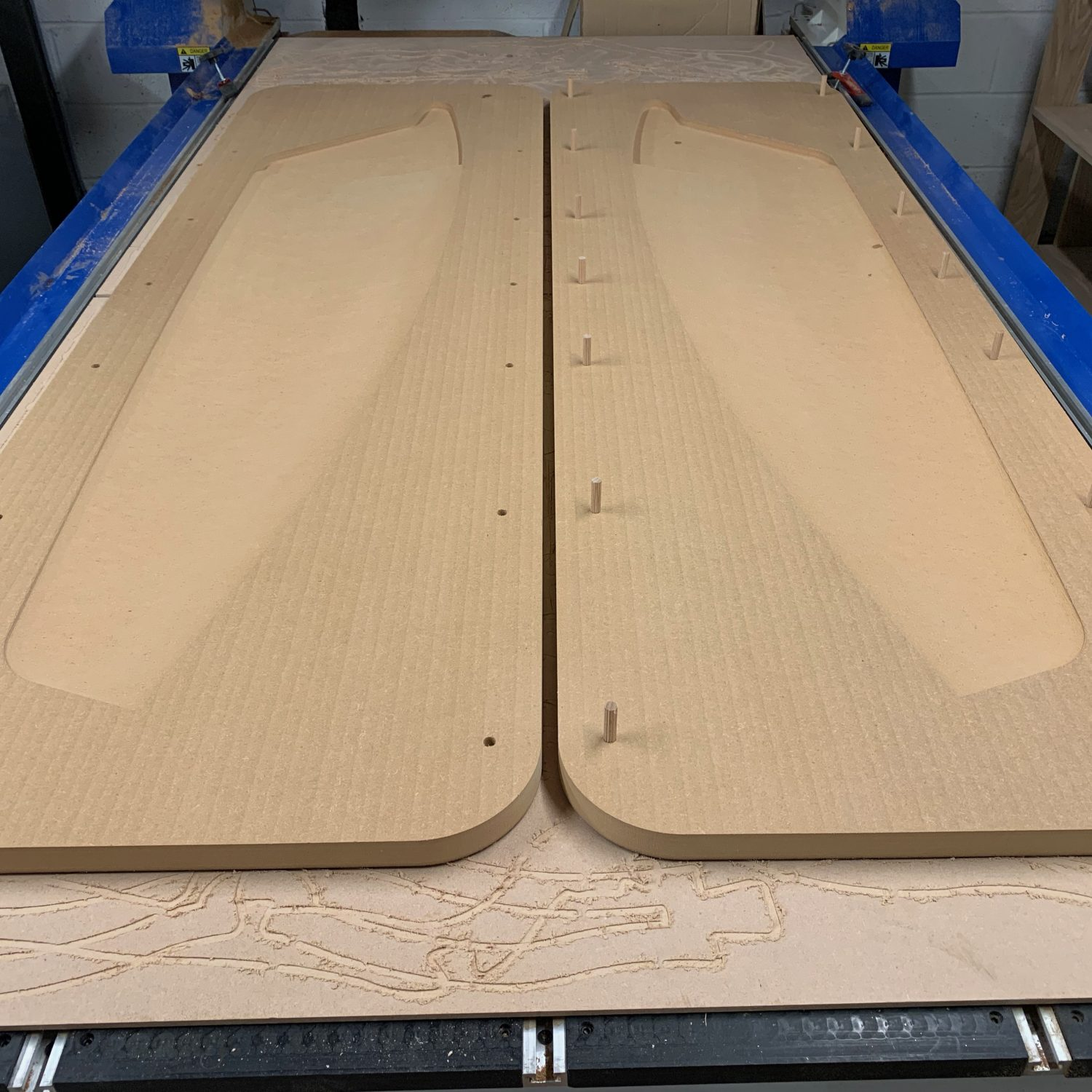 3D CNC Carved Centreboard Mould