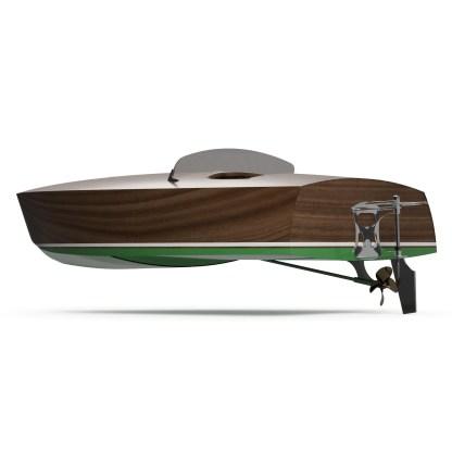 CNC Boat building kit by Dan Lee Boatbuilding Mahogany Race Boat