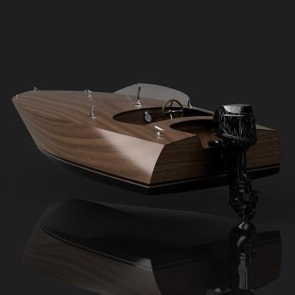 Outboard Motor 13ft Gentleman's Race Boat Crackerbox Style Boat Plywood boat plans plywood boat building