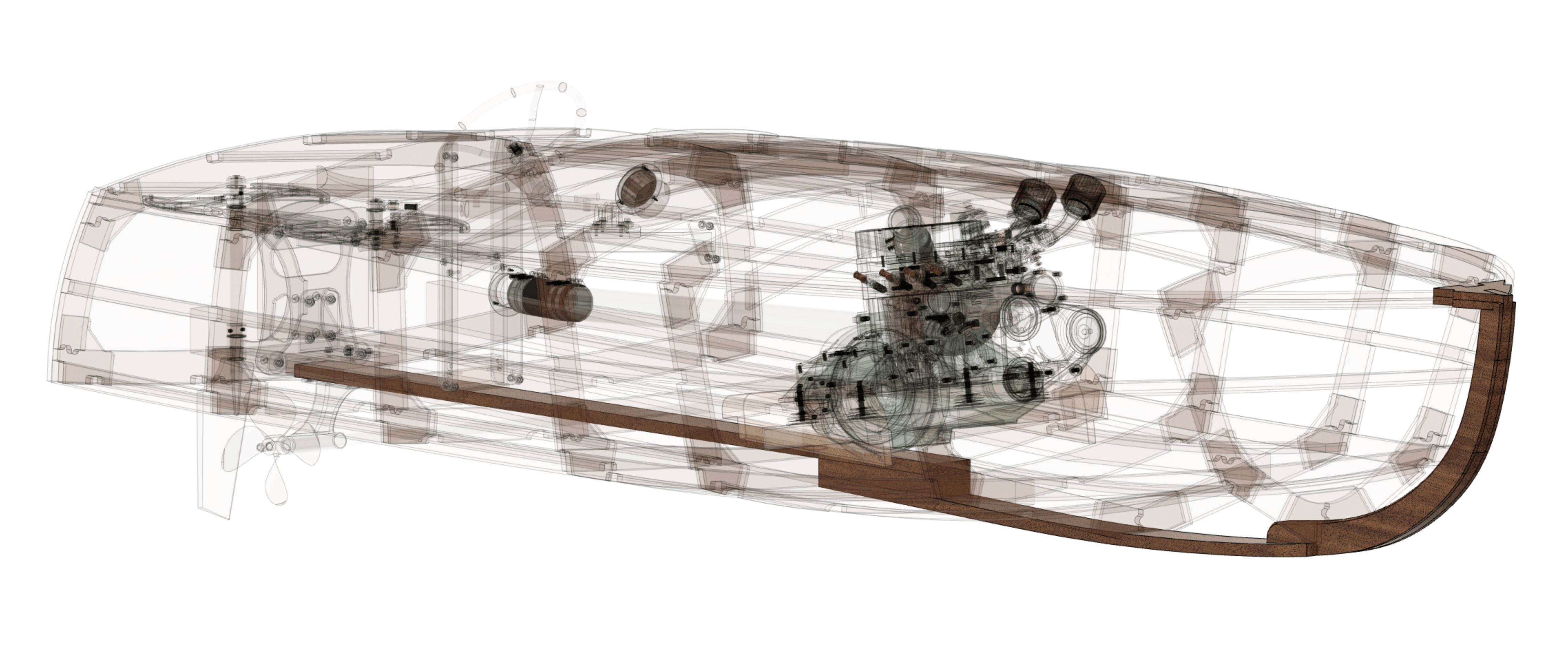 Marine design CAD drawing 3D drawing of boats