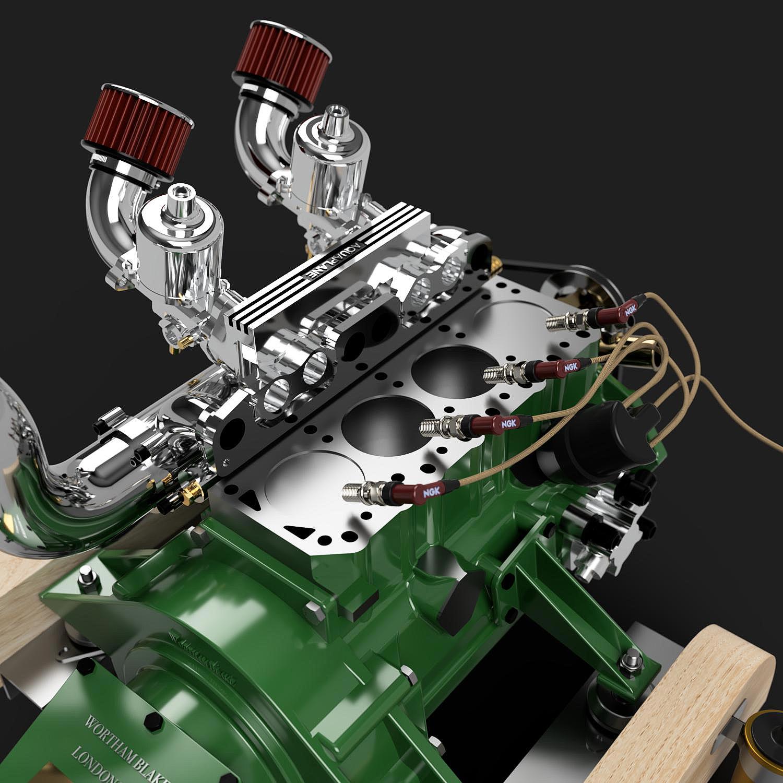 Ford 120e pre crossflow internal head render