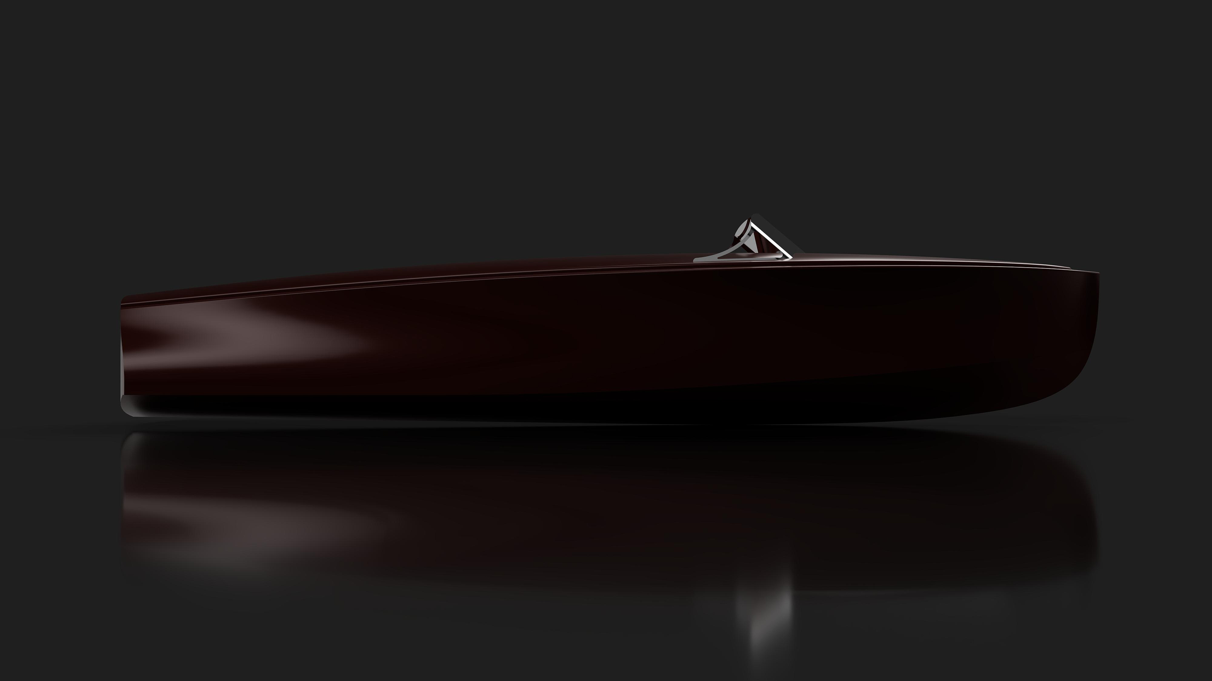 Wooden yacht tender modern classic wooden runabout