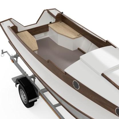 Waterman boat building plans and kit small tiller steered fishing skiff V
