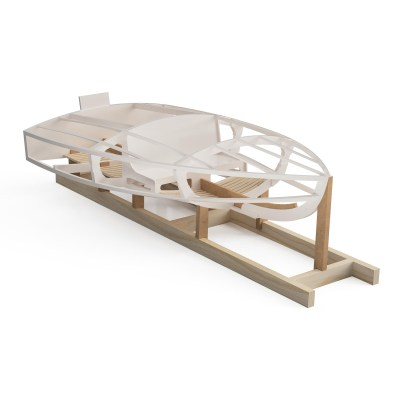 Wooden boat building kit for atomite mkii hydroplane