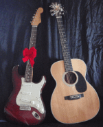 Electric guitar next to Acoustic guitar. Which is best for beginner?