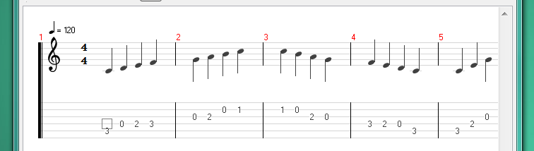 On screen display in Tux Guitar scrolls off screen