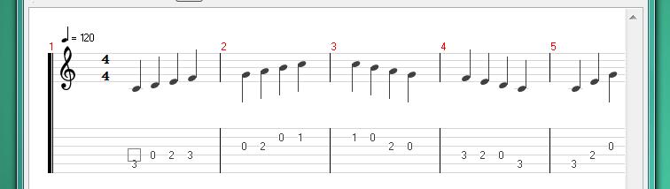 On screen display in Tux Guitar scrolls off screen