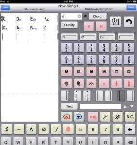 Edit / Create chord chart in iReal b