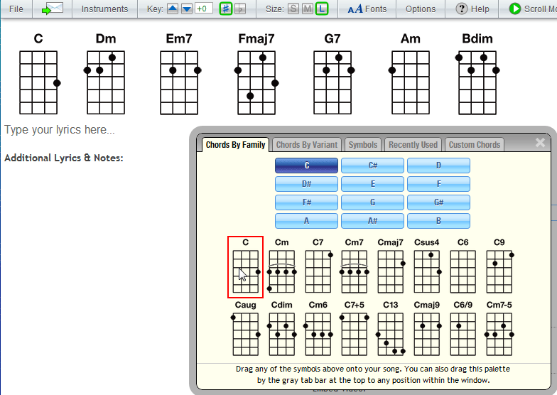 how to create a chord