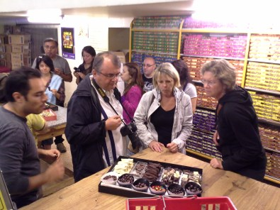 Free unlimited chocolate tasting at the end of the tour. We learned that you can only taste so much.