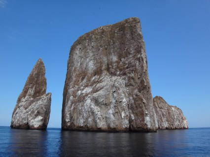 Kicker Rock - old volcano core - very deep water for snorkeling