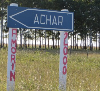 There is a pueblo called Achar near San Gregorio