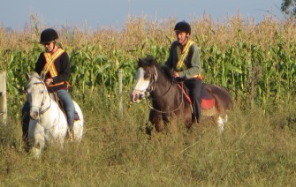 A warm up ride in deep grass at El Galope