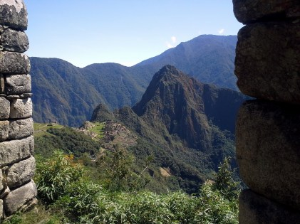 Machu Picchu as seen from the trail to Sun Gate