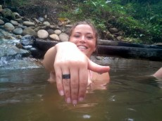 Changes of the ring. In the hot spring Amy´s ring turned from silver to gold, and then to black.