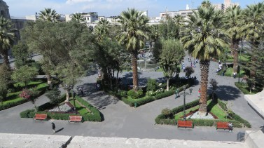 Arequipa's main plaza from on high