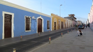 Many of the streets in Arequipa have been converted to one-way to allow for wide sidewalks