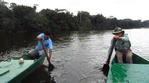 Dan helps paddle