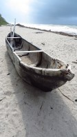Wooden fisherman´s canoe