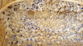 Alhambra ceiling detail - like a honeycomb