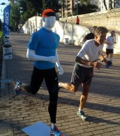 Dan running with a friend in Valencia