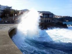 Waves on the breakwater, Lekeitio