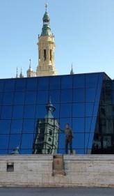 Reflection in Zaragoza square