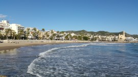 Sitges swimming beach