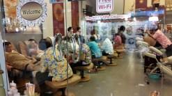 Assembly line massages