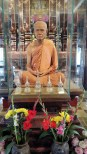 Wax (at least we were told he is wax) figure of Chan Kusalo at Wat Chedi Luang Worawhan. He was the highly respected abbot of the temple until he died in 2010 at the age of 91